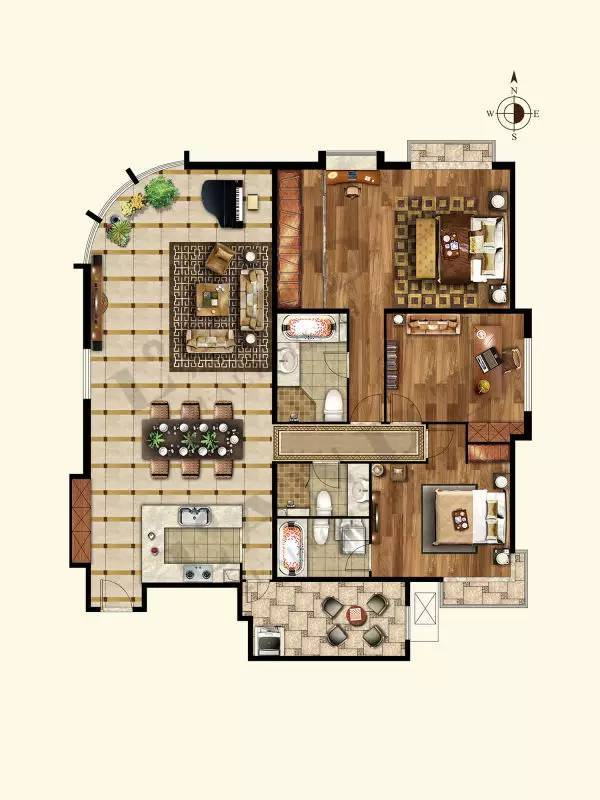 推推99北京房产网棕榈泉国际公寓户型图