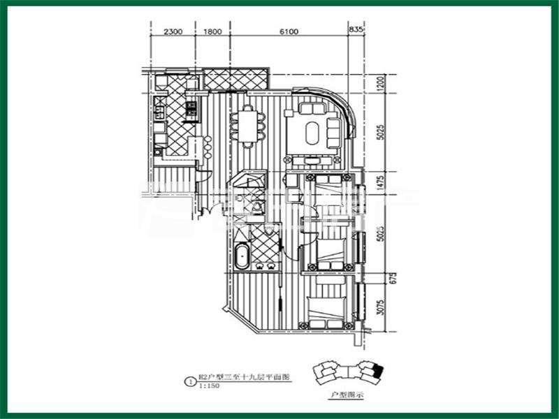 北京棕榈泉国际公寓户型图