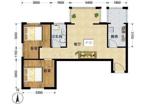 推推99北京房产网天通苑东一区户型图
