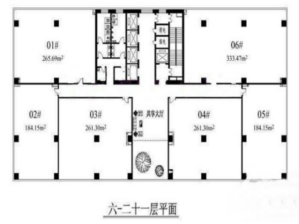 北京住邦2000商務中心戶型圖