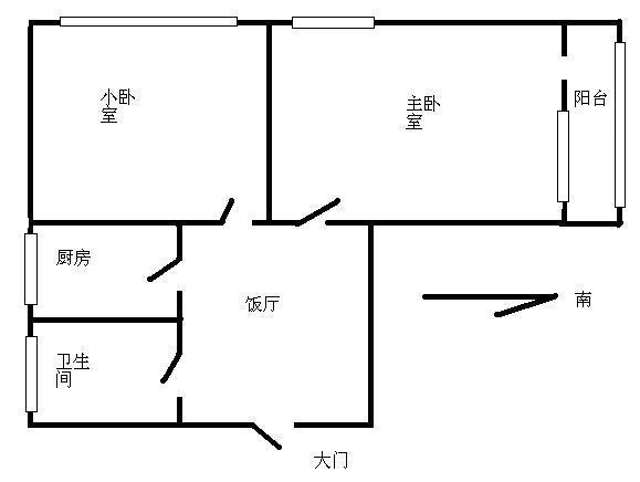 推推99北京房產網百萬莊大街17號院戶型圖